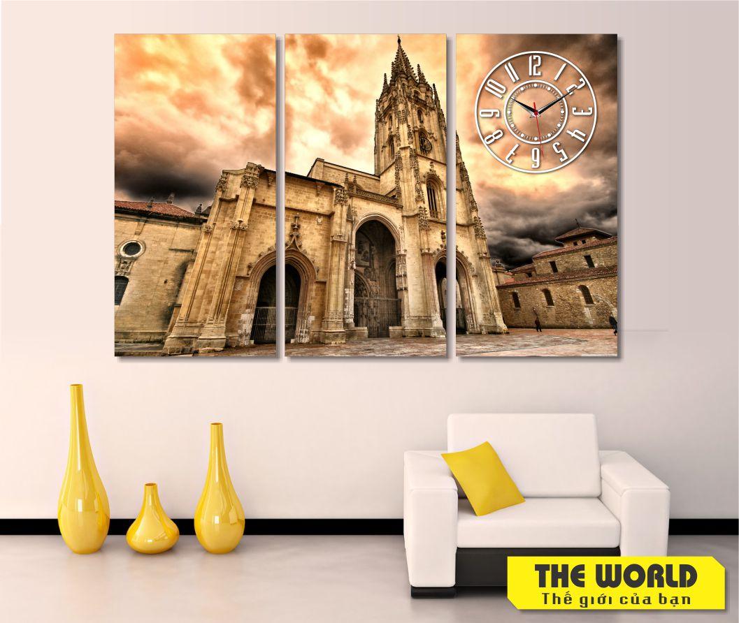 tranh đồng hồ treo tường đẹp