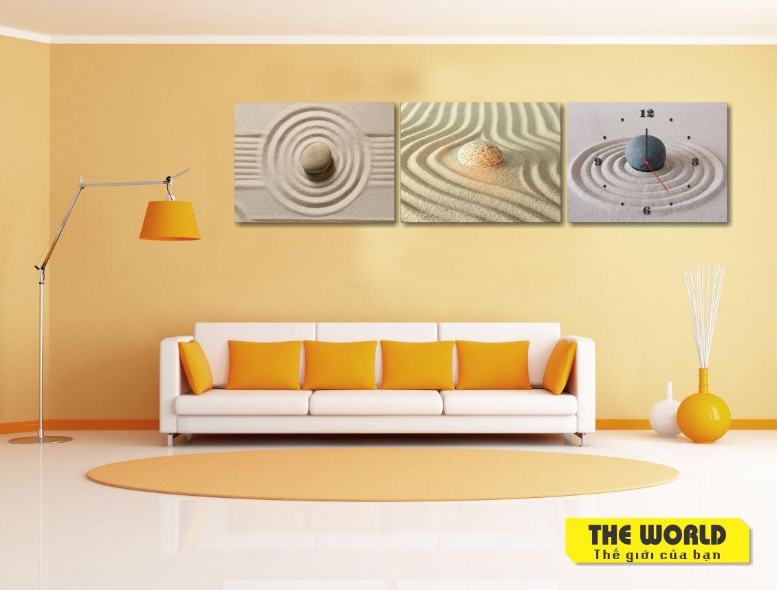 tranh đồng hồ treo tường spa đẹp