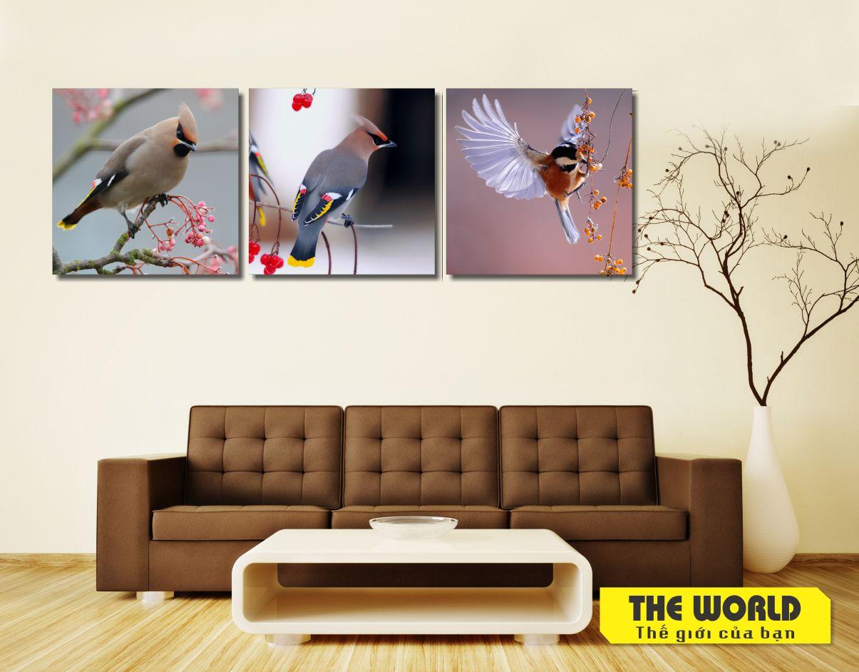 tranh treo tường chim hái quả