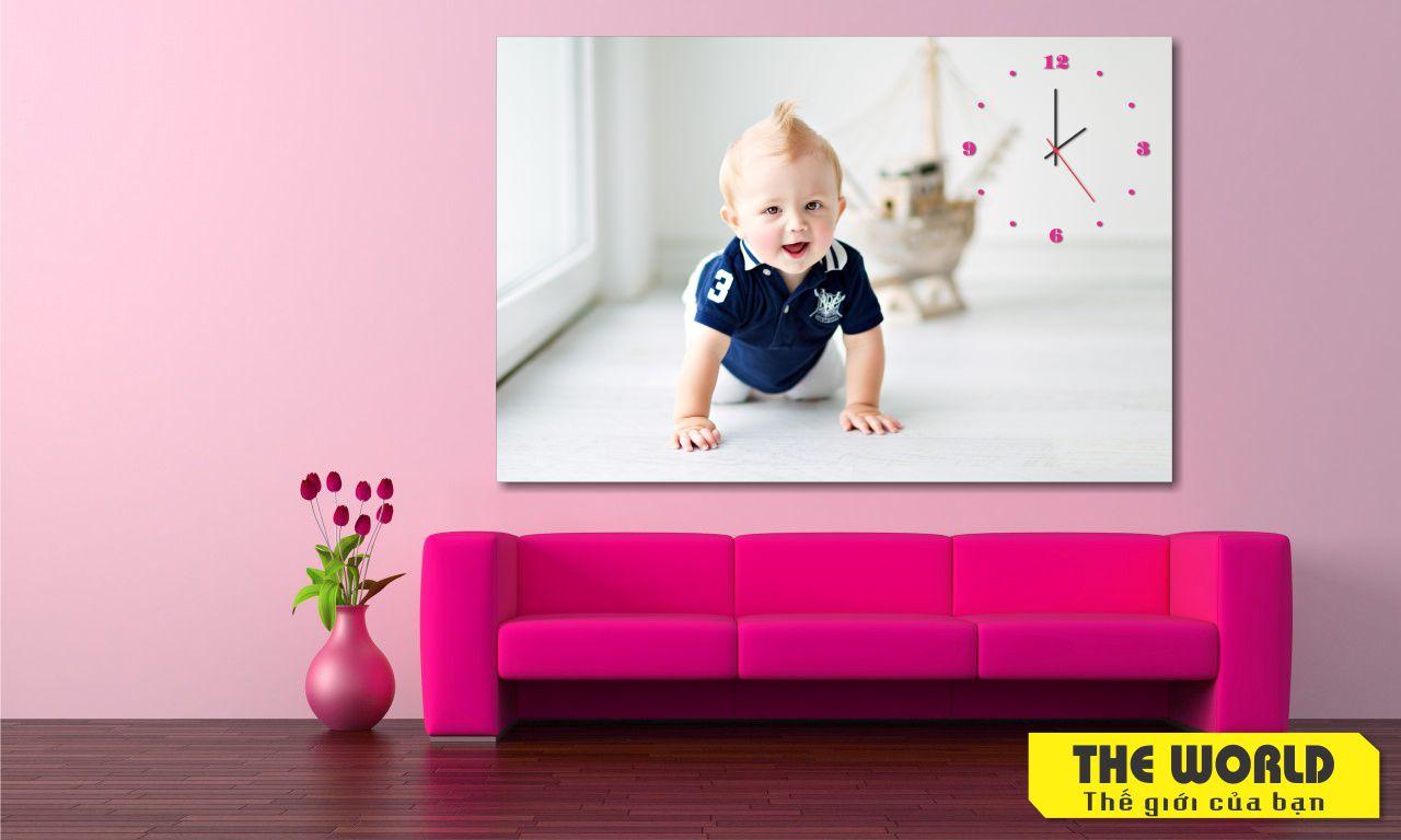 tranh đồng hồ treo tường cho bé yêu