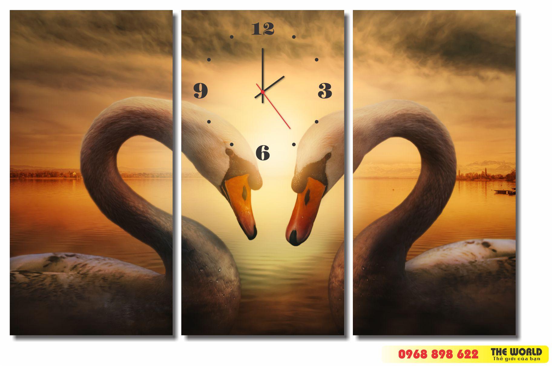 tranh đồng hồ treo tường nghệ thuật
